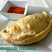 Easy recipe for homemade calzones filled with spinach and cheese