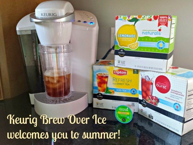 Keurig now offers the ability to #BrewOverIce with 19 different flavor options from teas to lemonade to coffee - how will you cool off? #shop #BrewItUp
