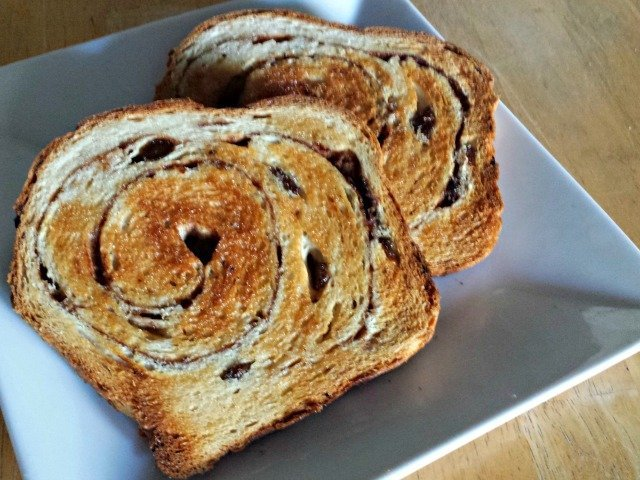 Homemade cinnamon raisin bread, fresh from the toaster - heaven!