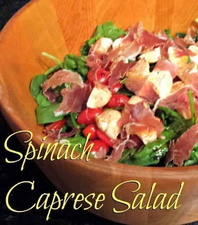 Spinach caprese salad - for when you need something just a little special that tastes amazing and takes 5 minutes to prepare