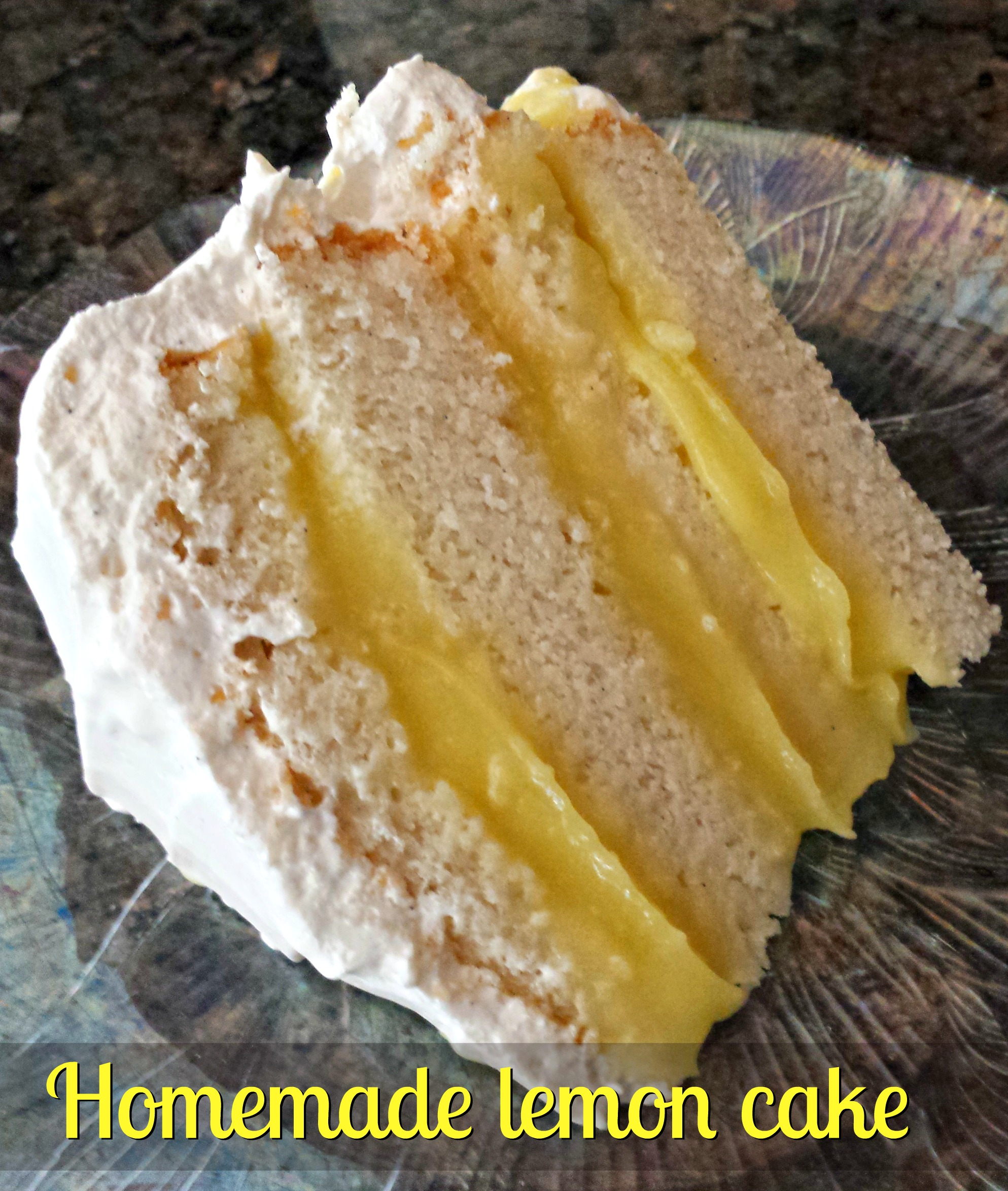 Lemon Layer Cake Made With Oil