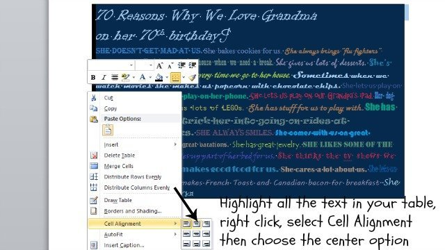 How to center your text in Microsoft Word
