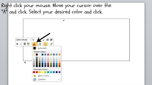 How to change your font color in Microsoft Word