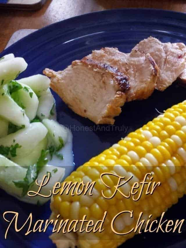 Lemon Marinated Kefir Chicken