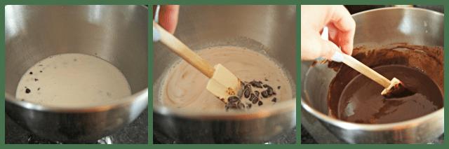 Easy steps to make ganache