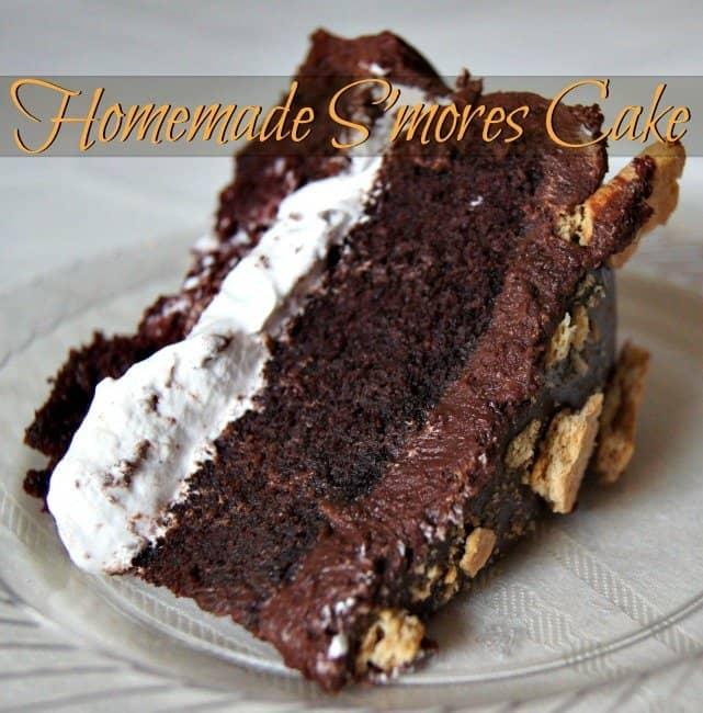 Homemade Smores Cake Recipe Honest And Truly