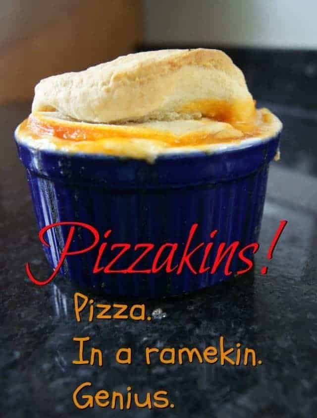 Pizzakins - a new twist on one of the old #familyfavorites. Individual pizzas in a ramekin? Genius! #shop