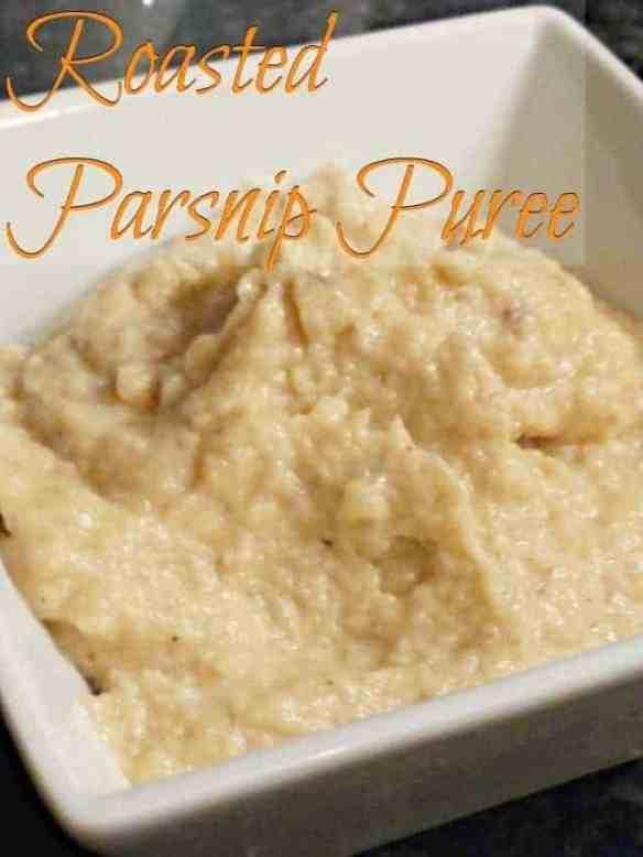 Delicious gluten free dairy free vegan roasted parsnip puree