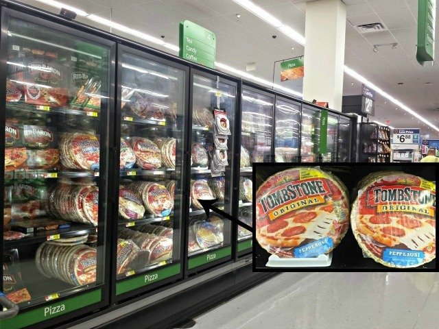 Tombstone pizzas at Walmart