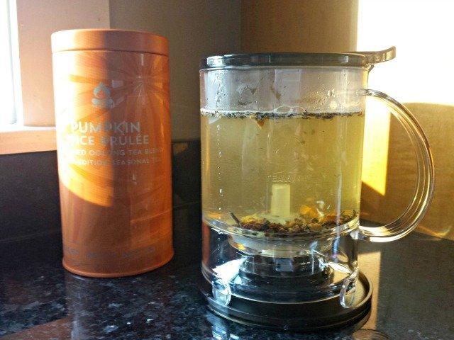Brewing Teavana Pumpkin Spice Brulee