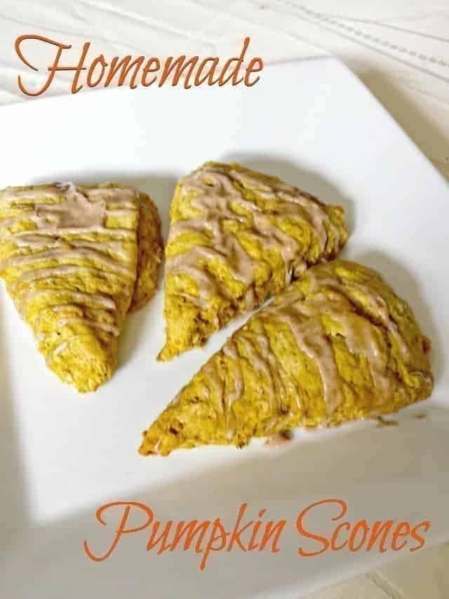 Easy copycat Starbucks homemade pumpkin scones recipes