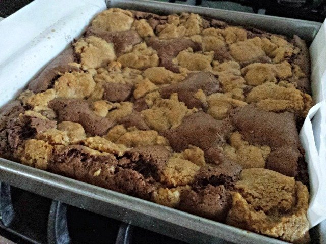 Perfectly (under)baked candy bar cookie brownies