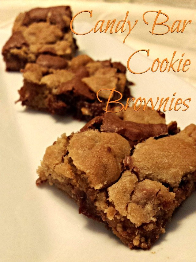 Easy candy bar cookie brownie recipe - so yummy!