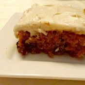 Slice of delicious homemade carrot cake