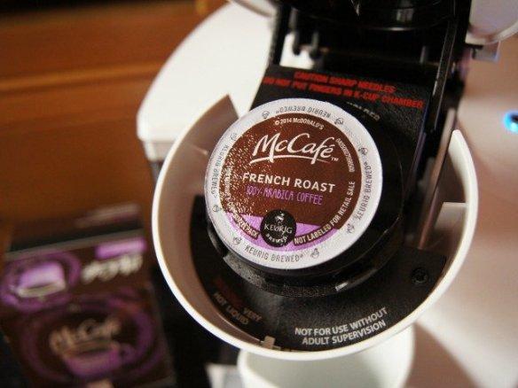 Pod of McCafe coffee