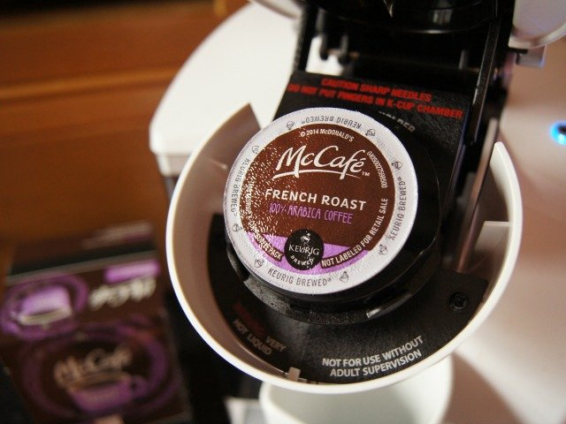 Pod of McCafe coffee