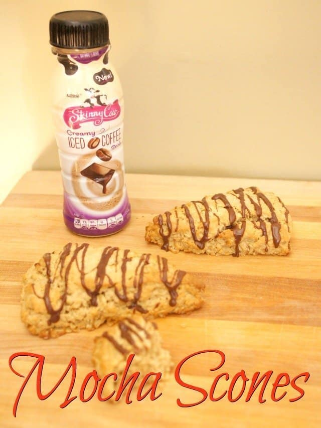 Mocha Scones with Skinny Cow Iced Coffee Drinks