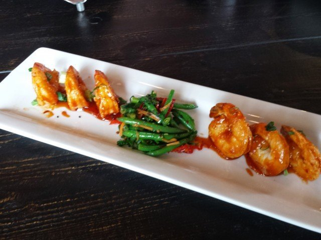 Asian glazed shrimp at Granite City food and brewery