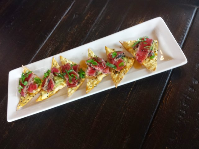 Ahi tuna appetizer at Granite City Food and Brewery
