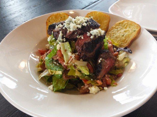 Steak salad at Granite City Brewery