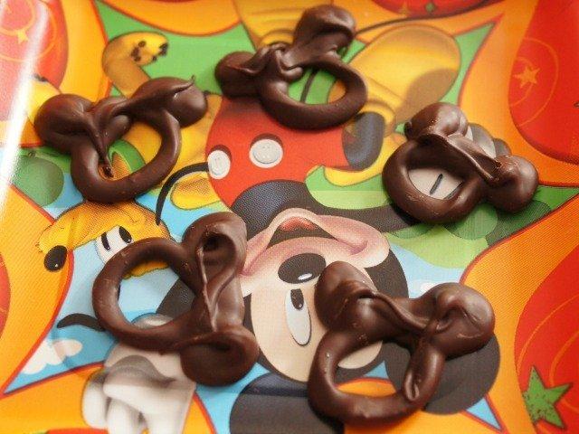 Chocolate mickey mouse ears