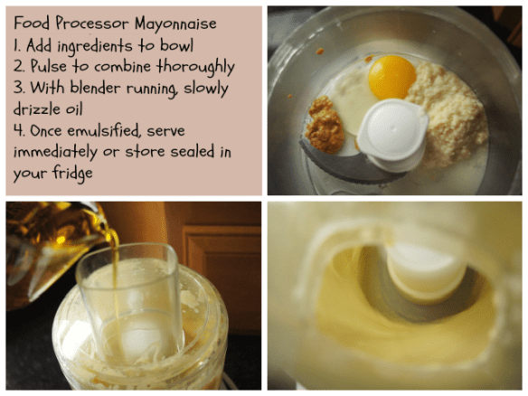 Making mayo with your food processor
