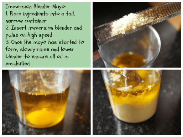 Mayo using an immersion blender