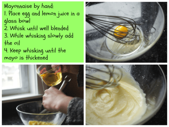 Making mayo with a whisk