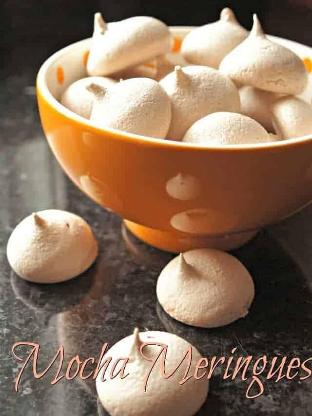 Mocha meringues recipe ready to eat