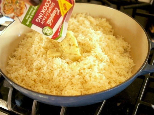 Adding Campbell's Soups for Cooking to rice