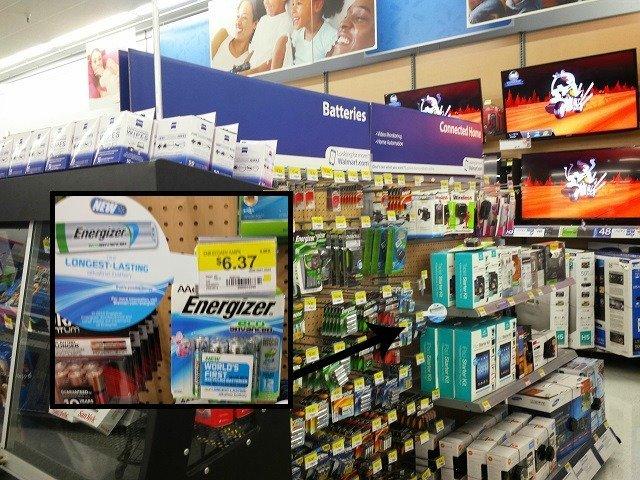 Energizer EcoAdvance batteries at Walmart