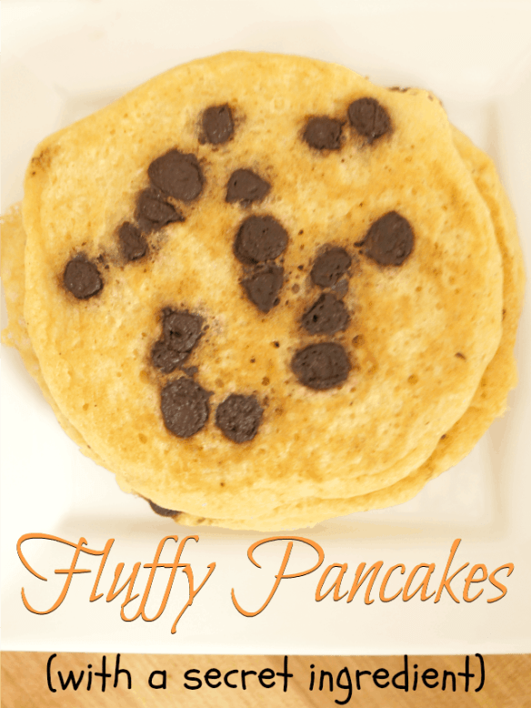 Fluffy pancake recipe - the result of a beautiful mess and baking with kids