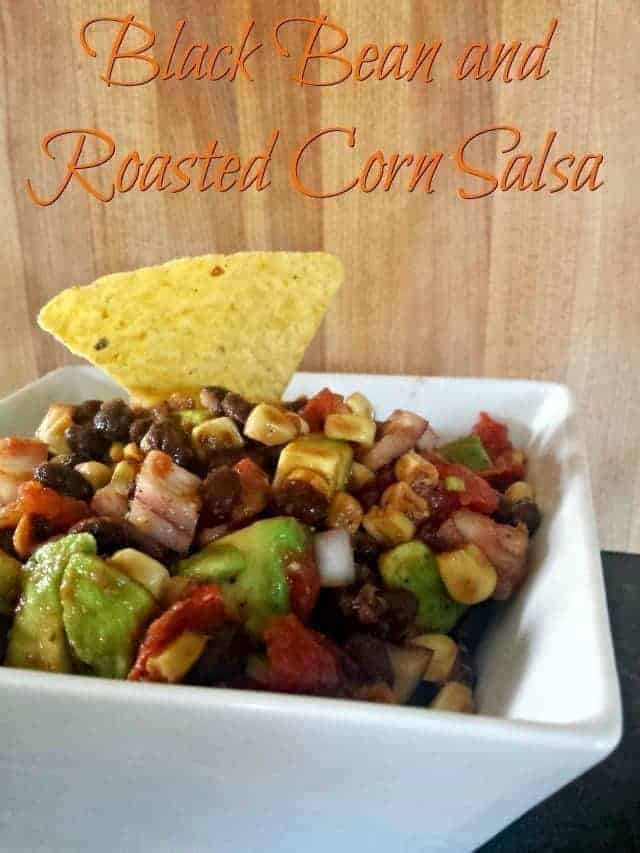 Black Bean and Roasted Corn Salsa recipe ready in under 15 minutes
