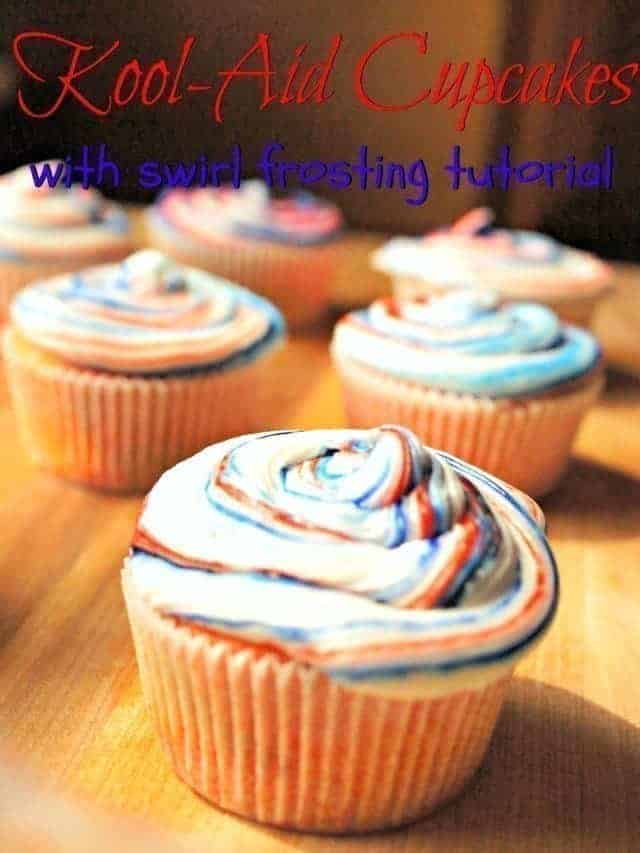 Kool-Aid Cupcakes recipe and tutorial