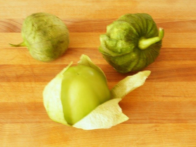 Tomatillos in their paper husk