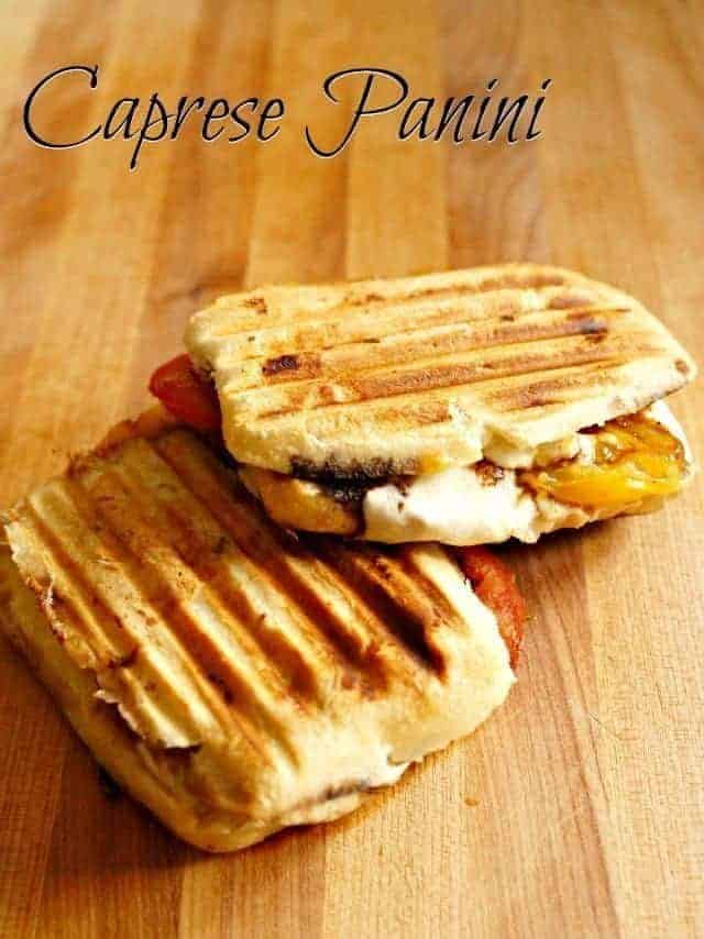 Caprese panini sandwich recipe