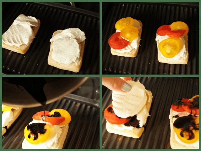 Making a caprese panini