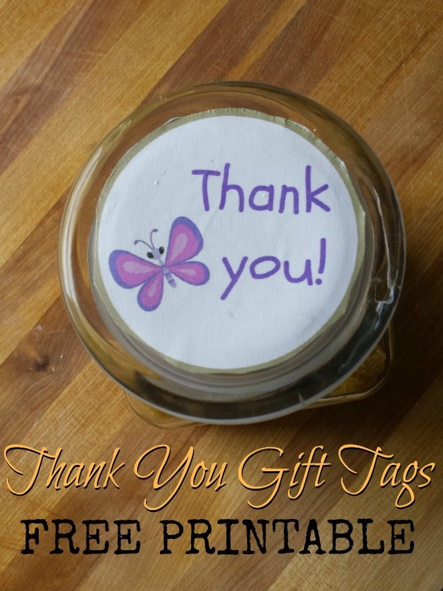 Thank you gift tags printable