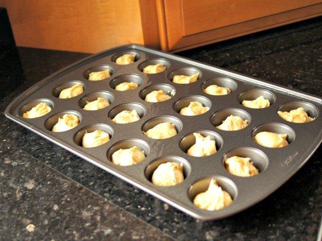 Green tea cupcakes ready to bake