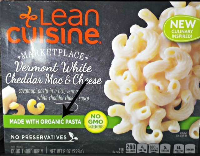 Lean Cuisine Marketplace meals are made with organic pasta