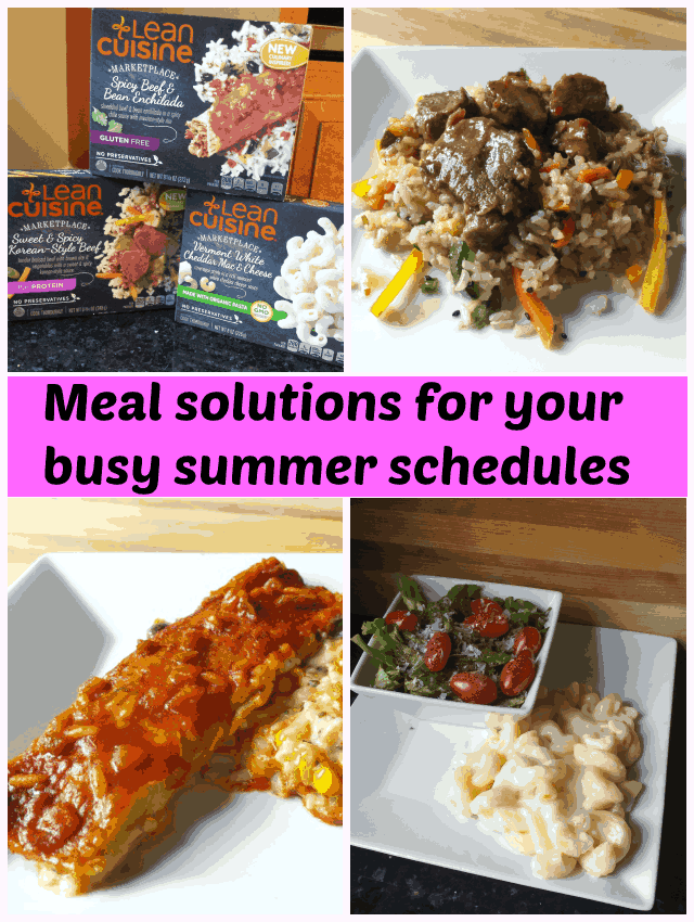 Finding meal solutions for your busy summer schedules. Organic, gluten free, and protein packed, Lean Cuisine Marketplace Meals have a variety of flavors to keep you on task and on schedule!
