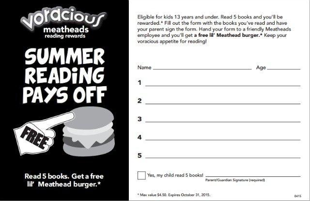Meatheads Voracious Reader Program