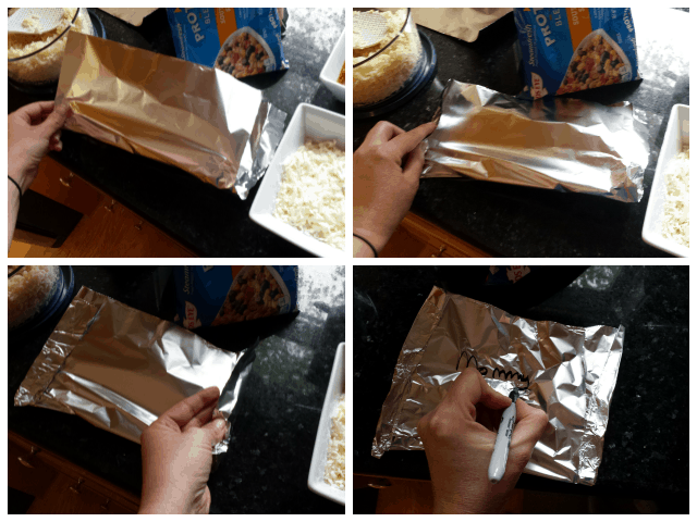 How to fold your tin foil pocket