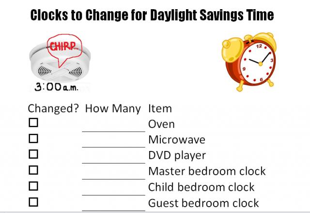 Change your clocks printable