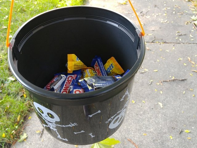 Full bucket of Nestle candy