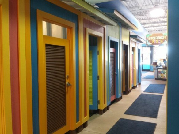 Easy to use changing rooms at Goldfish swim school