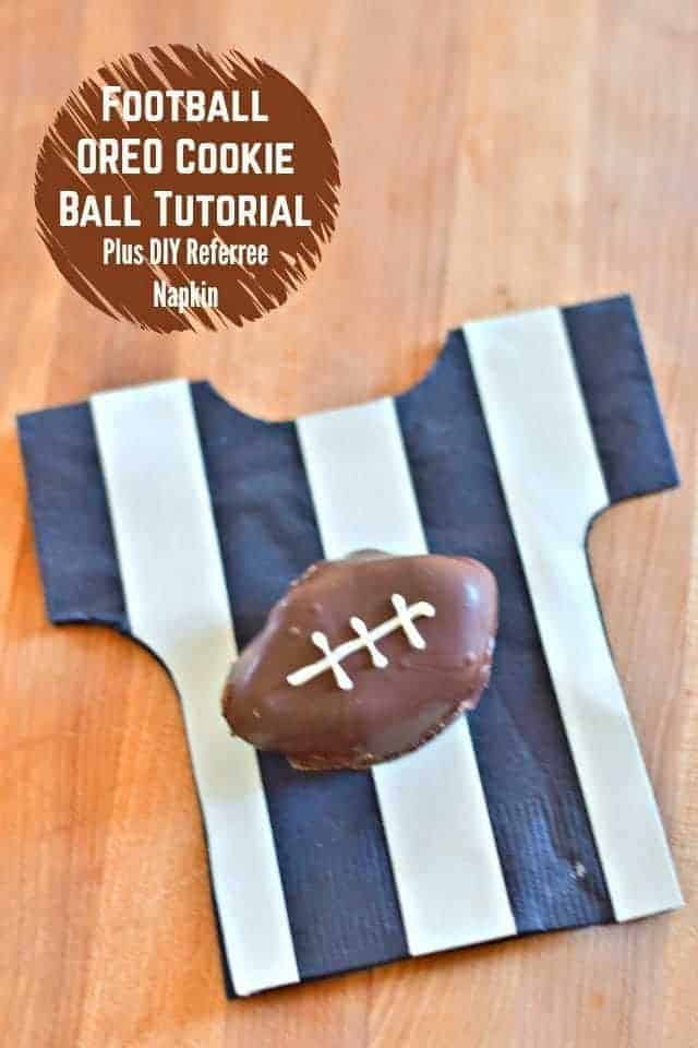 Football OREO Cookie Tutorial plus referree napkin