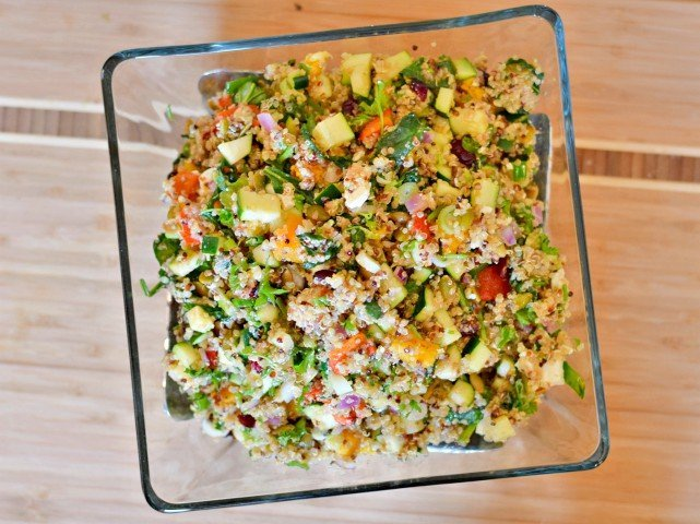 Harvest quinoa salad ready to eat