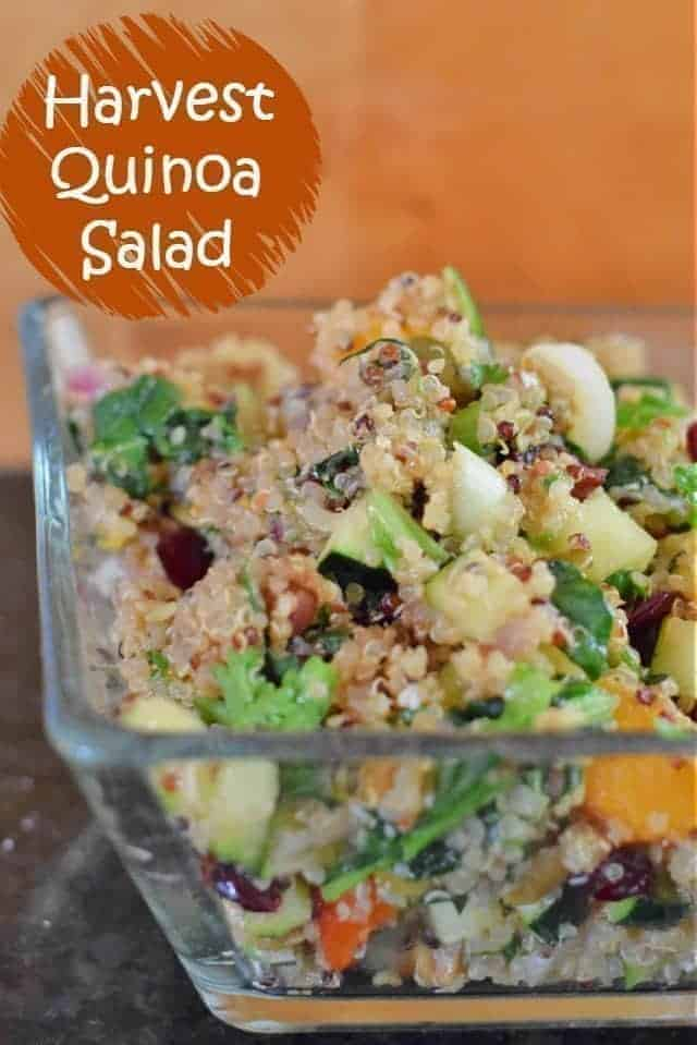 Harvest quinoa salad recipe