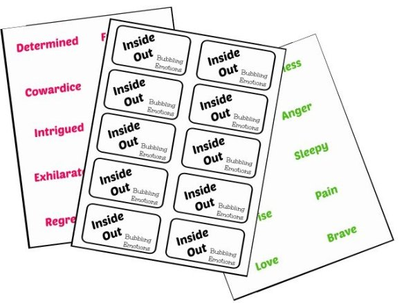 Inside Out Emotions game printable